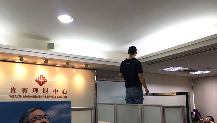 銀行採用LED照明工程