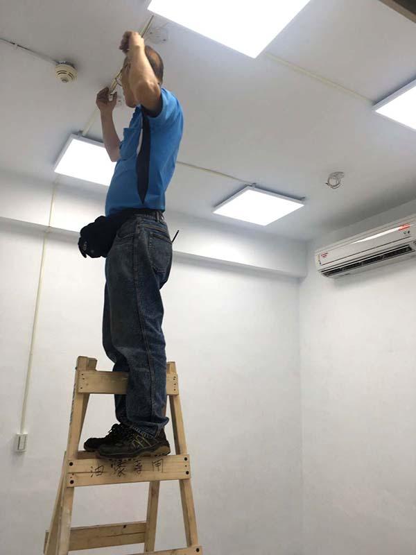 教室LED照明改善