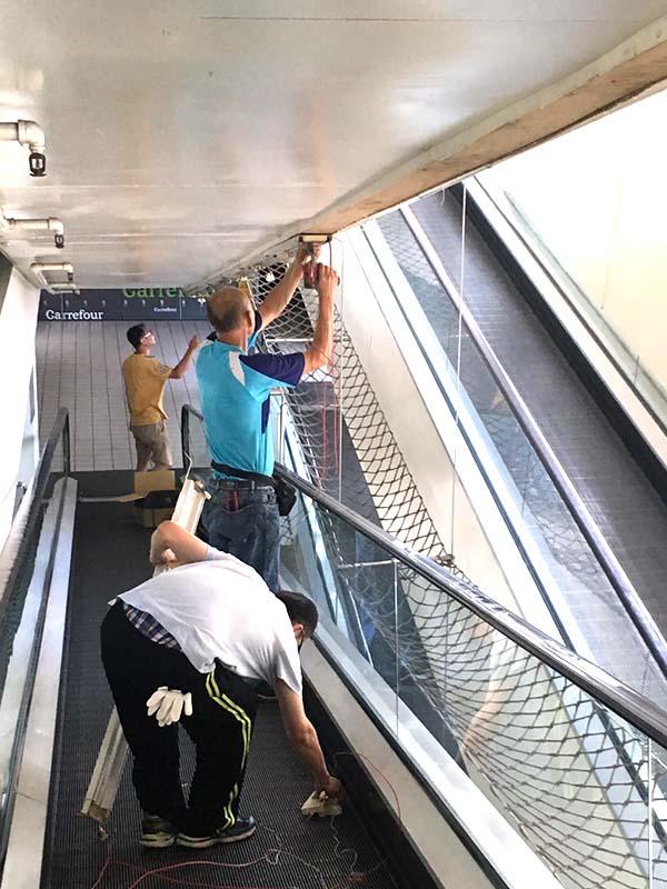 大賣場更換手扶梯照明