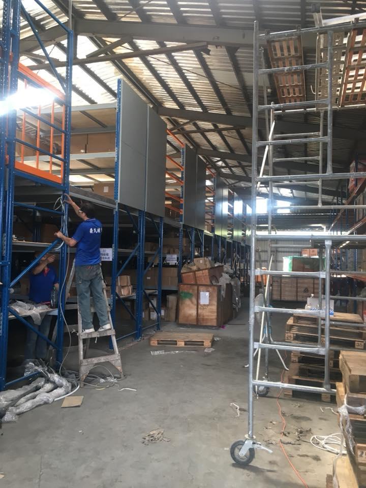 倉儲料貨架區域照明工程