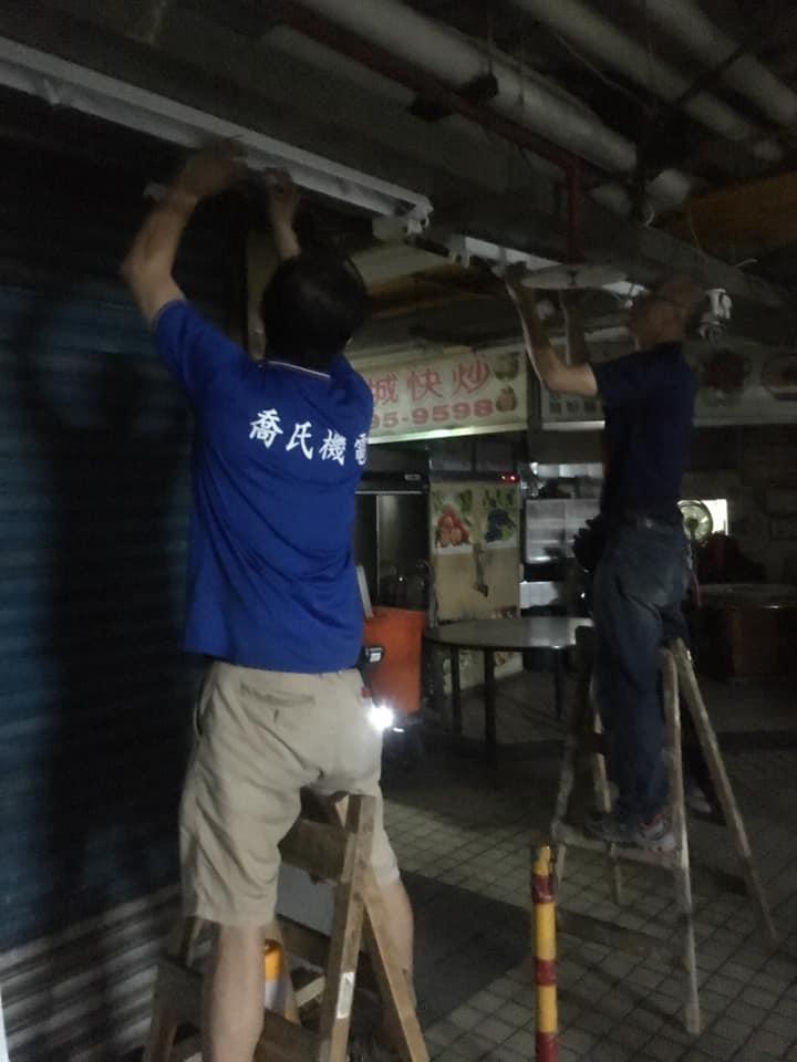 飛利浦節標LED燈安裝在台北市市場
